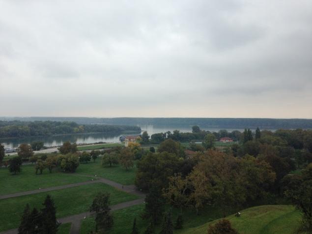 Uitzicht over de Donau vanaf het Belgrade Fortress