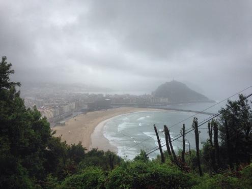 Het beroemde uitzicht over de baai van San Sebastián