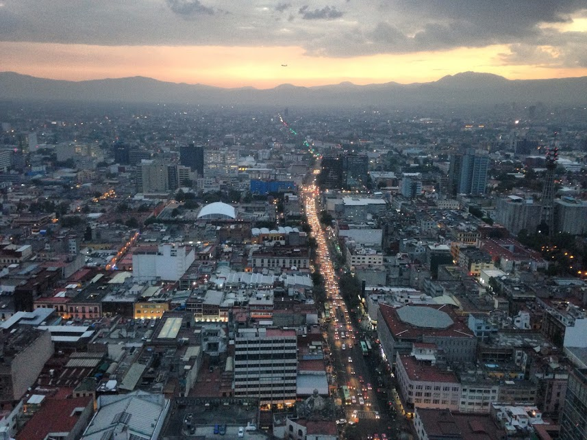 Zonsondergang vanaf Torre Latinoamericana
