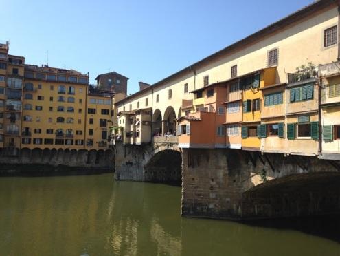 De beroemde werkplaatsen van de goudsmeden op de Ponte Vecchio