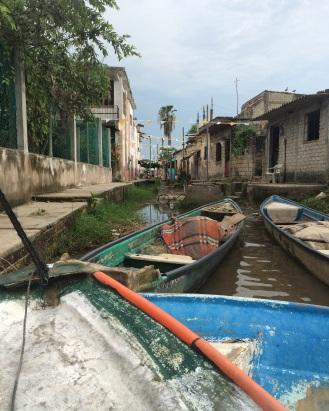 De 'haven' in Mexcaltitan