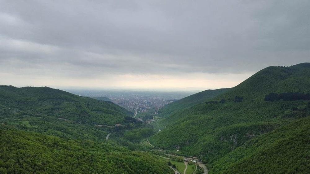 Uitzicht over Péc