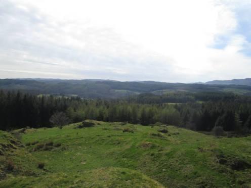 Uitzicht over de Lake District