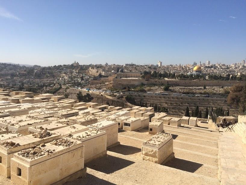 De Joodse begraafplaats op de Mount of Olives