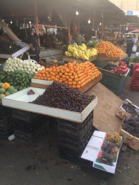 Op de groente (en fruit) markt in Jenin