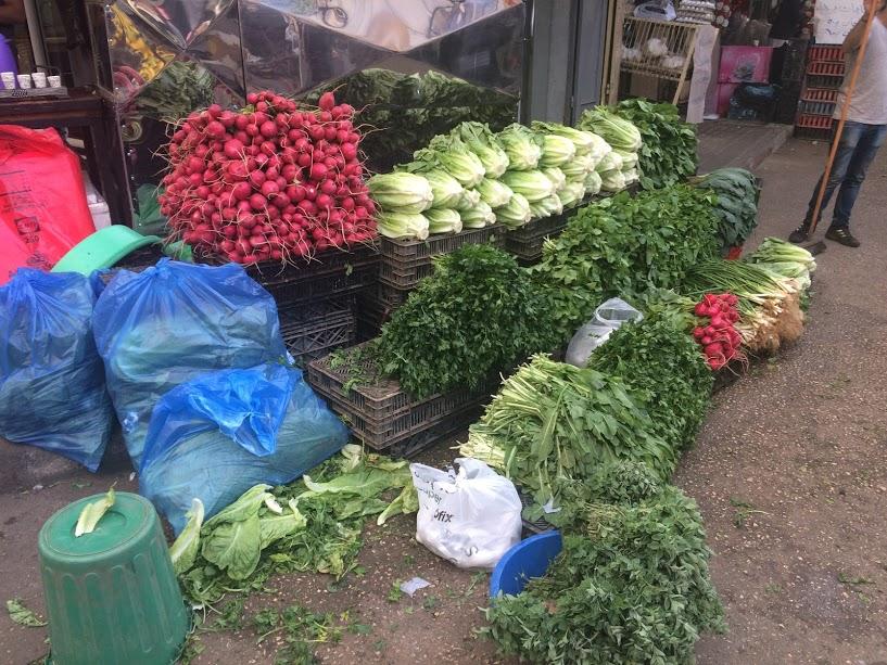Op de groentemarkt in Jenin