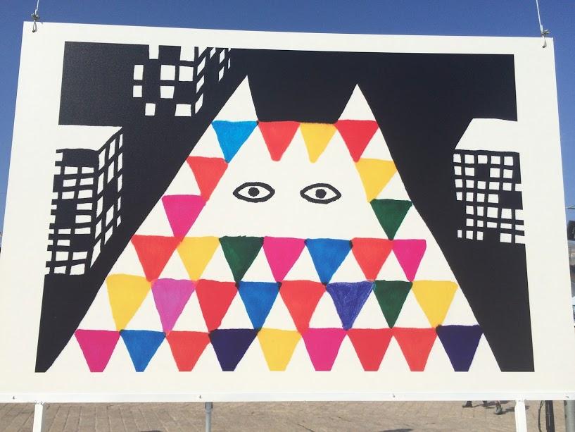 Een kleurrijk kunstwerkje