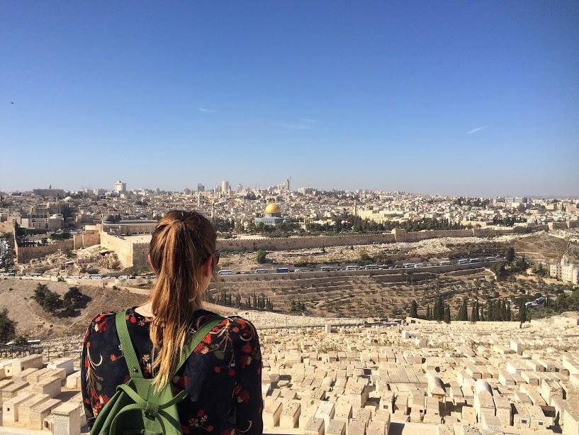 Uitzicht vanaf de Mount of Olives :)