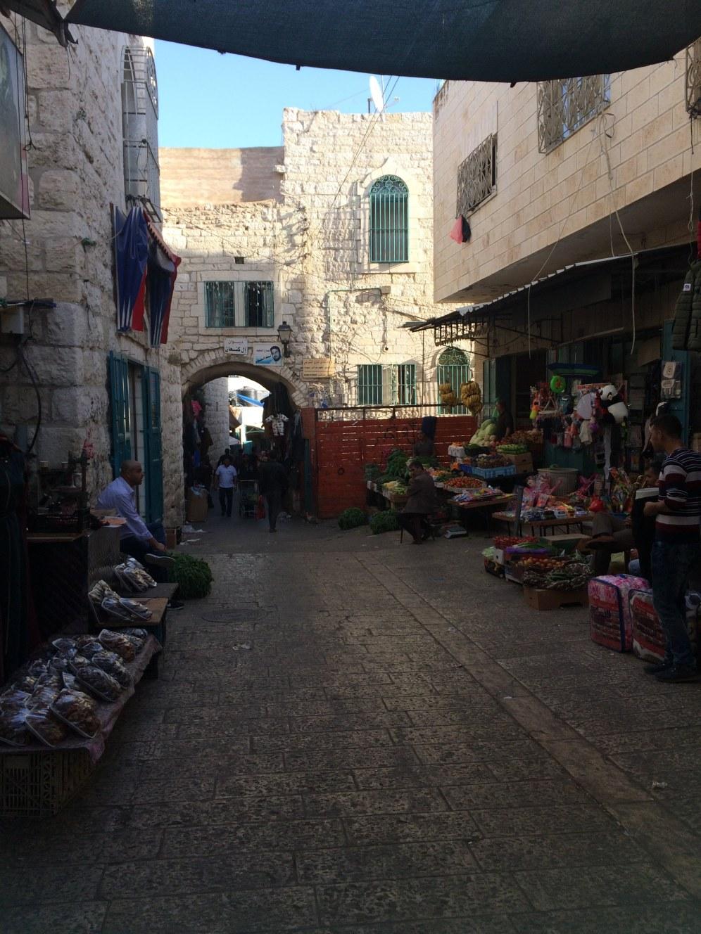 De oude markt van Bethlehem