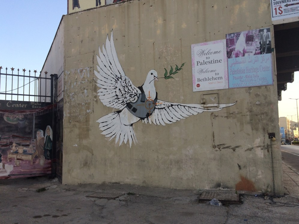 Banksy's Armored Dove