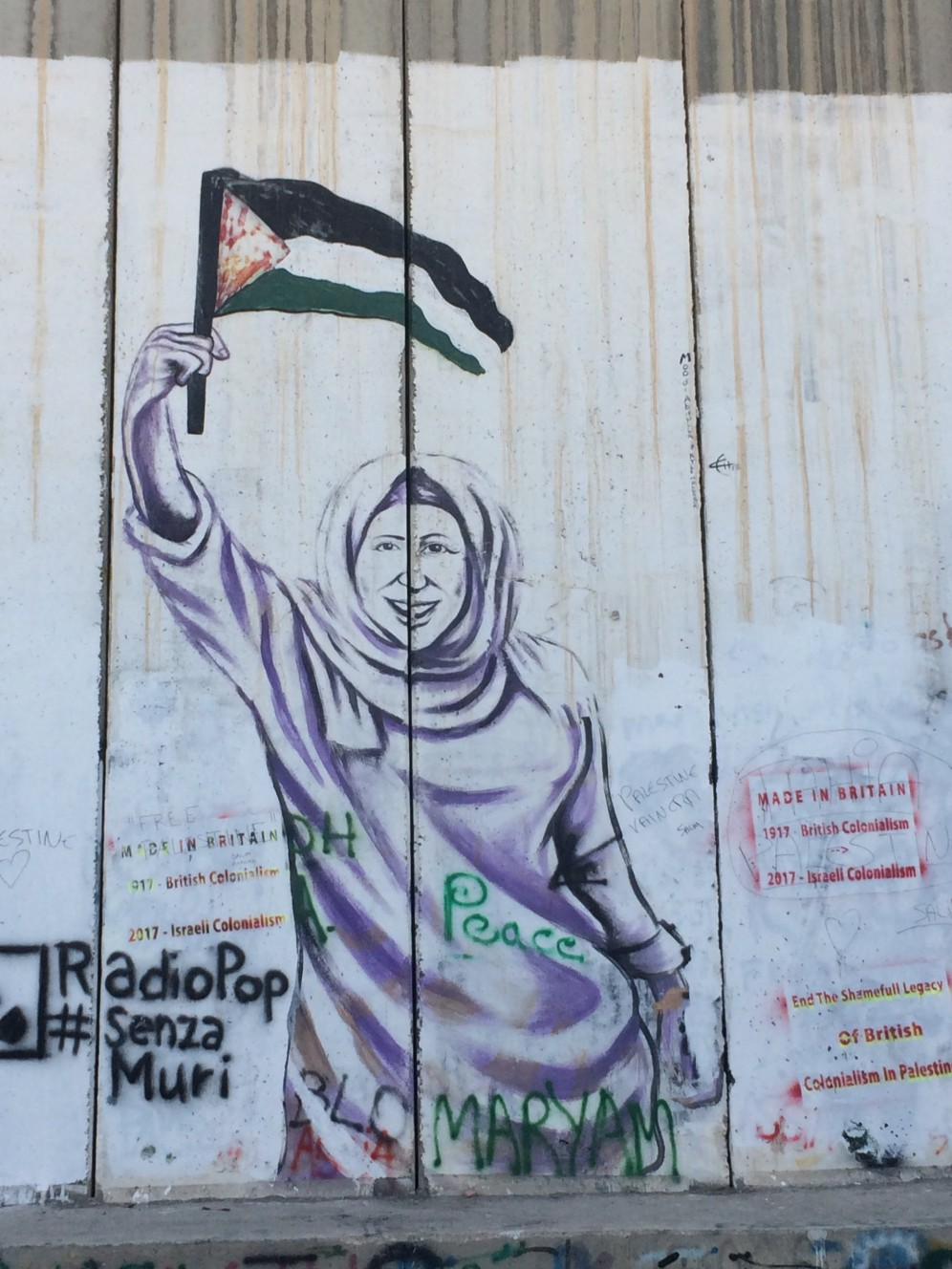Street art op de West Bank Barrier