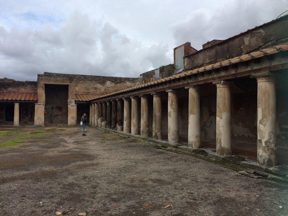 Een willekeurig straatje in Pompeii..