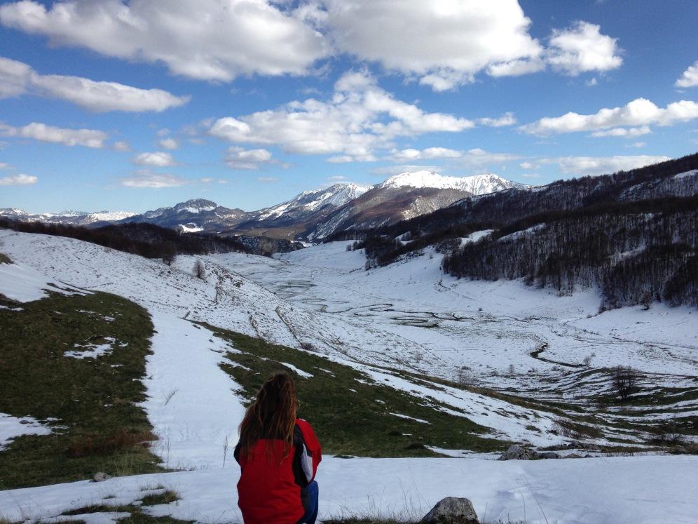 Uitkijken over het Bjelašnica gebergte