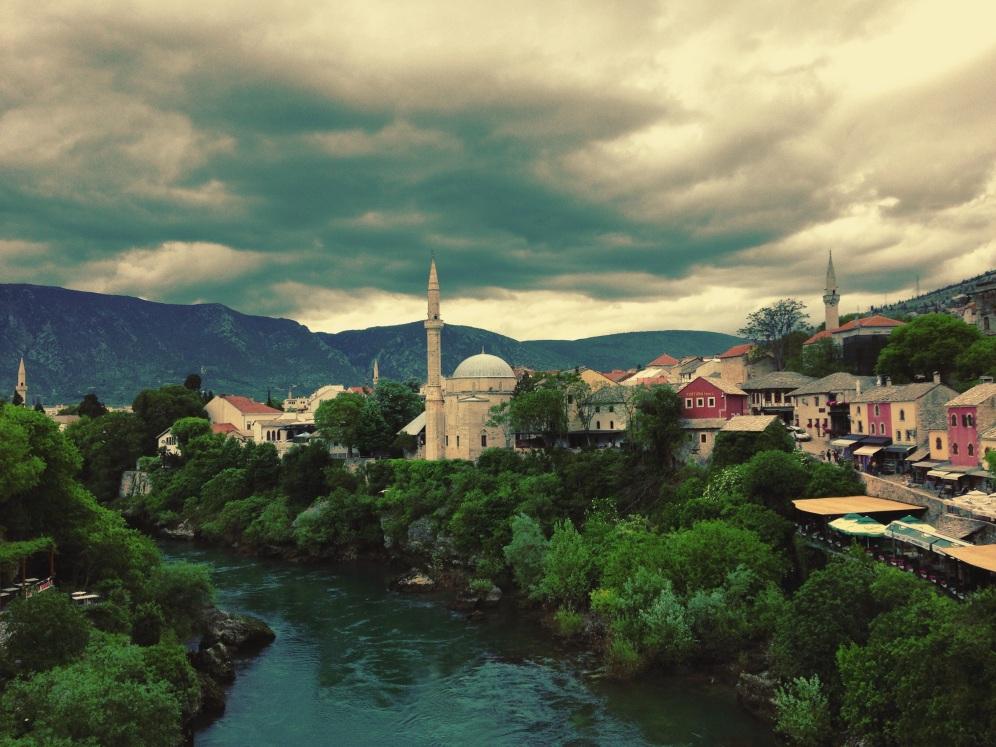 Uitzicht vanaf de Koski Mehmed Paša moskee