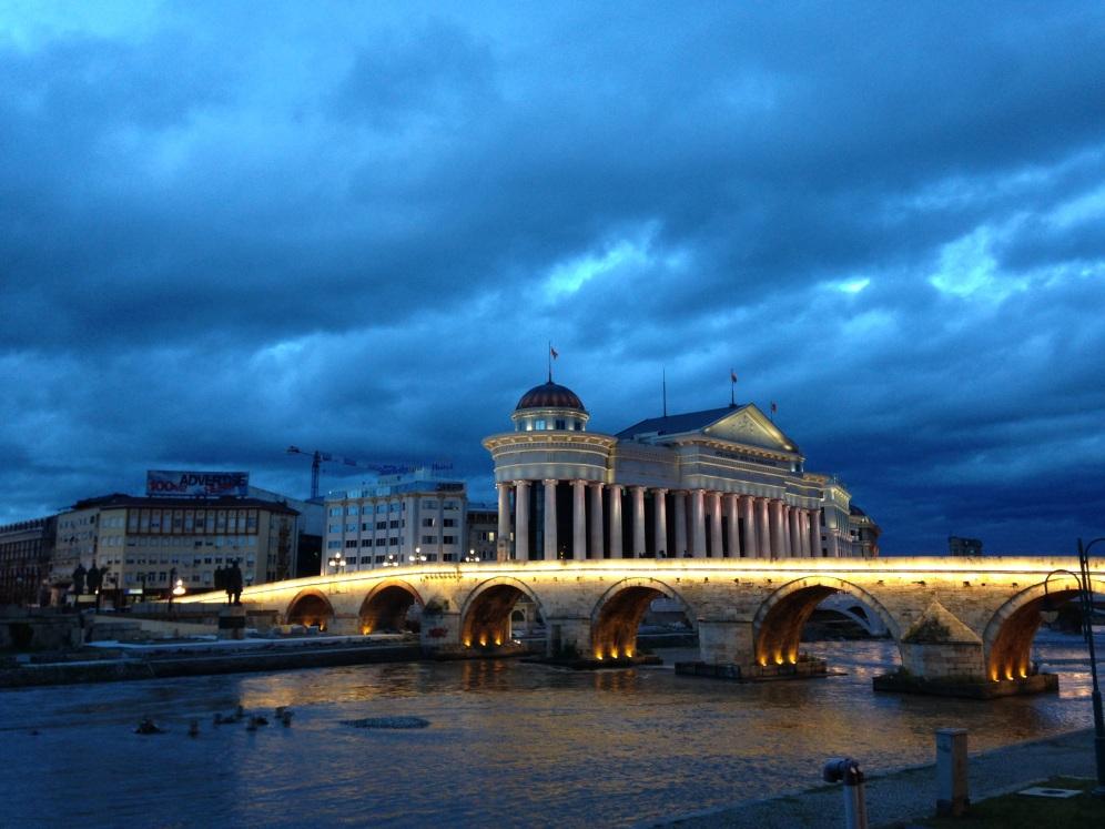 Skopje by night