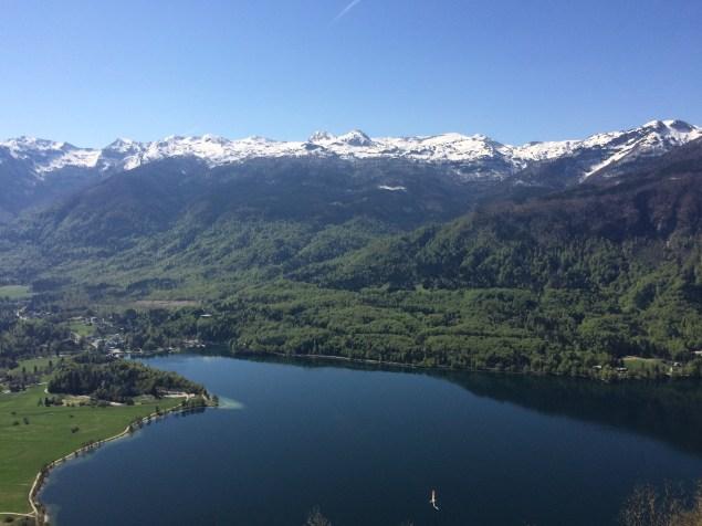 Uitzicht over Bohinj vanaf Mt. Vogel :)